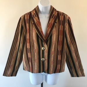 Silverado Navajo Print Wool Blazer